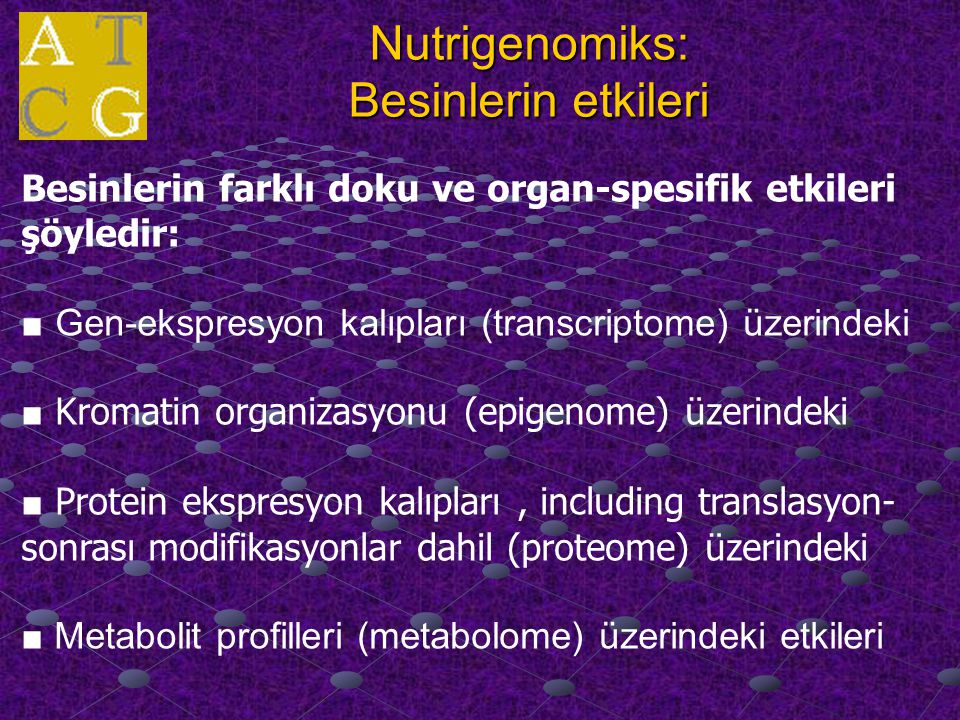 Nutrigenomiks: Besinlerin etkileri