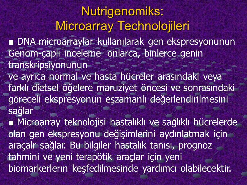 Nutrigenomiks: Microarray Technolojileri