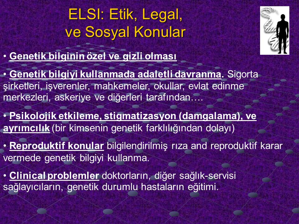 ELSI: Etik, Legal, ve Sosyal Konular