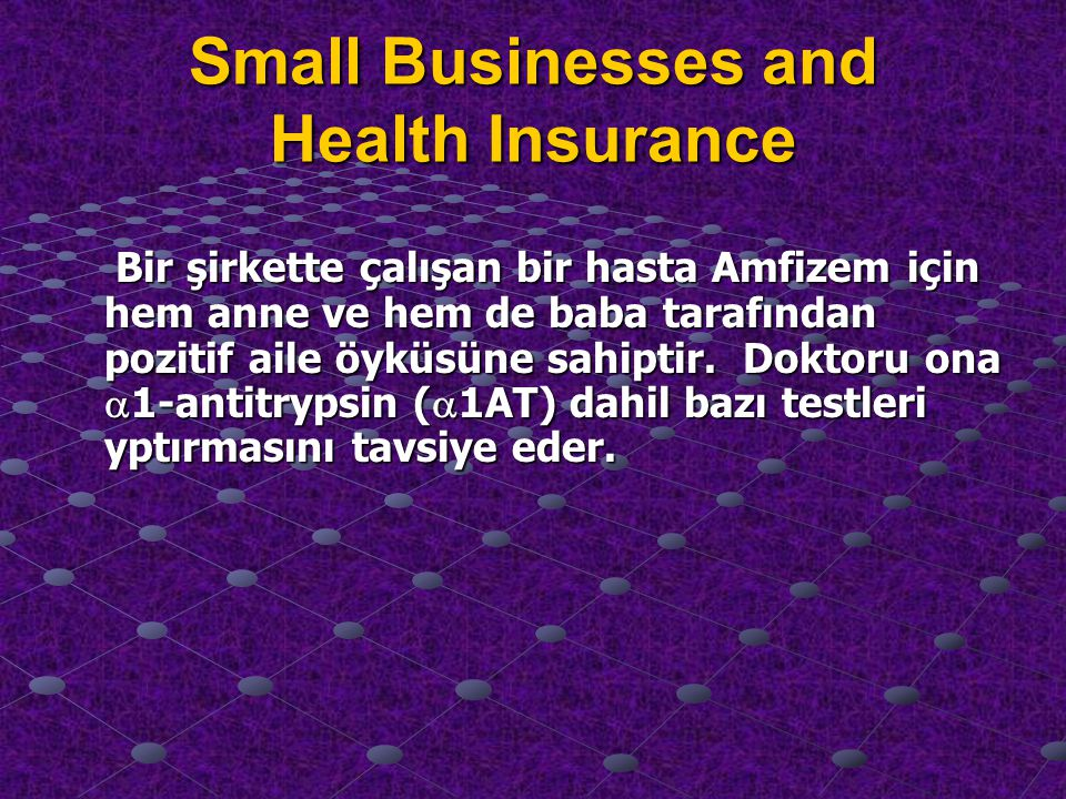 Small Businesses and Health Insurance