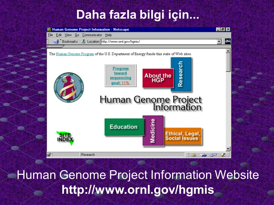 Human Genome Project Information Website