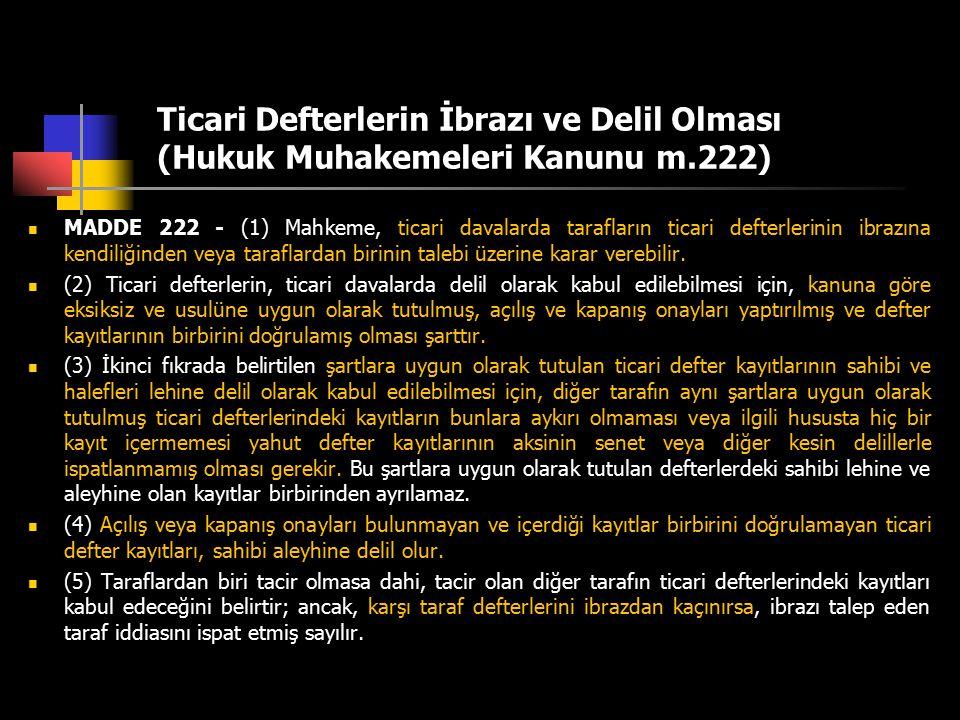 Ticari Defterlerin İbrazı ve Delil Olması (Hukuk Muhakemeleri Kanunu m