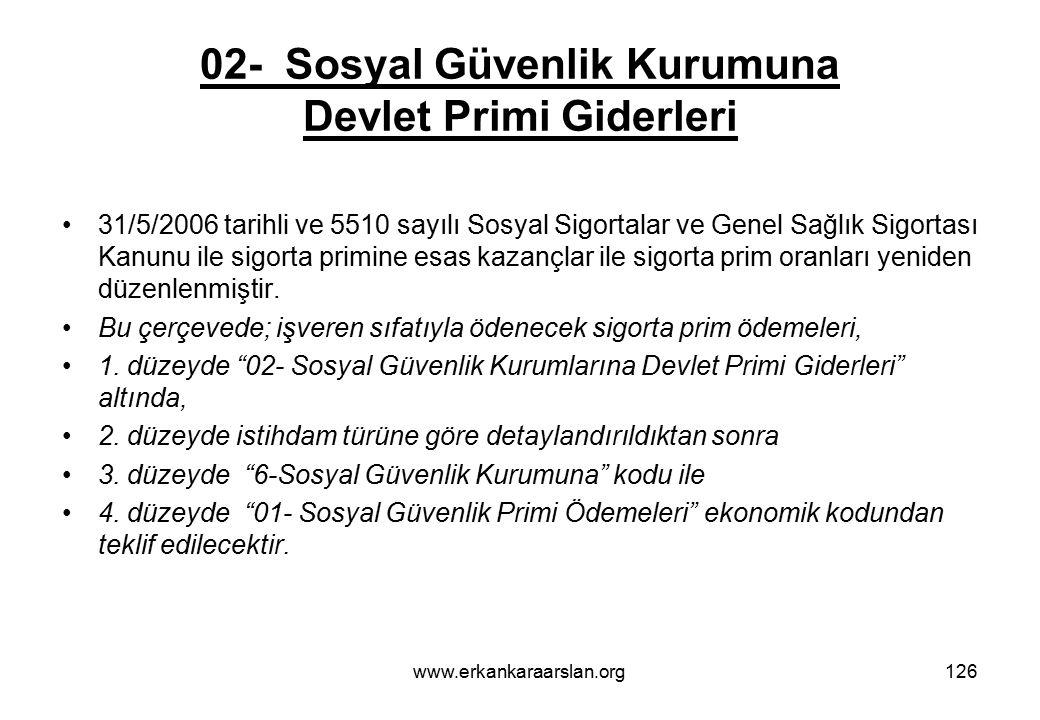 02- Sosyal Güvenlik Kurumuna Devlet Primi Giderleri