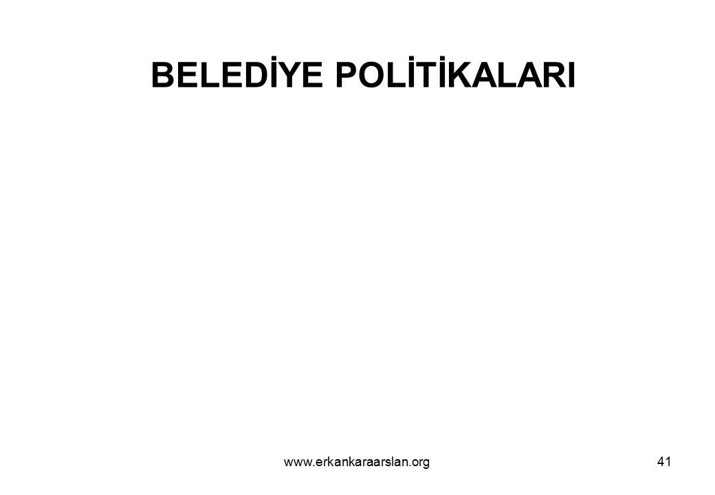 BELEDİYE POLİTİKALARI