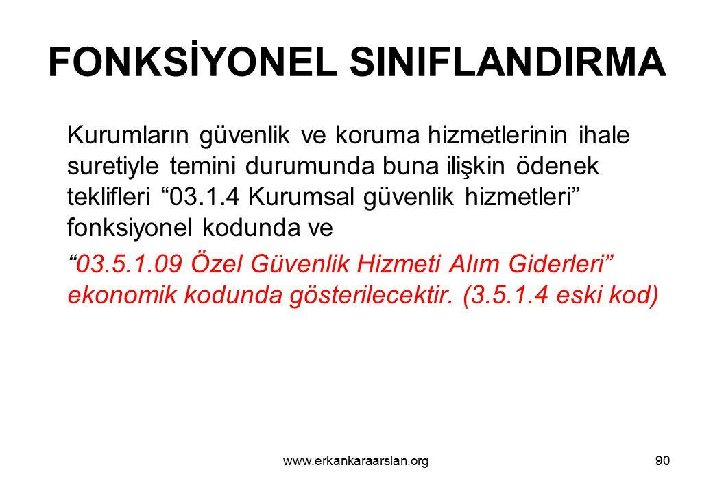 FONKSİYONEL SINIFLANDIRMA
