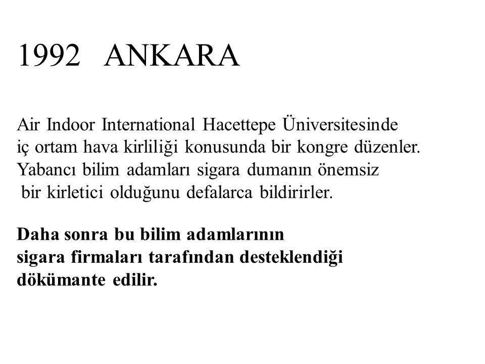 1992 ANKARA Air Indoor International Hacettepe Üniversitesinde