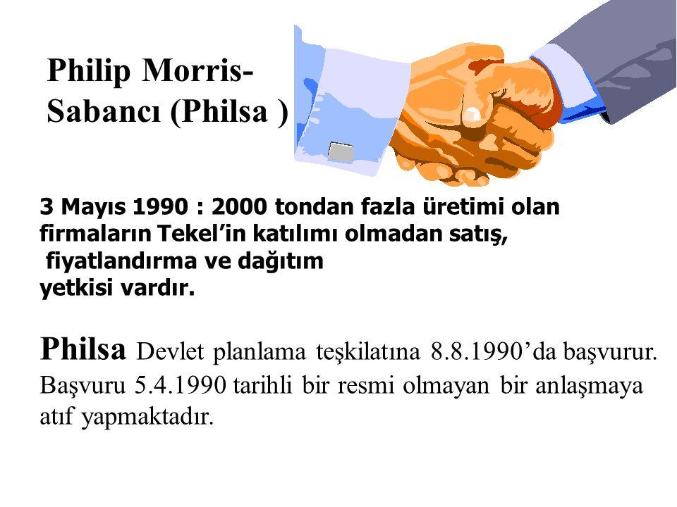 Philsa Devlet planlama teşkilatına 8.8.1990'da başvurur.