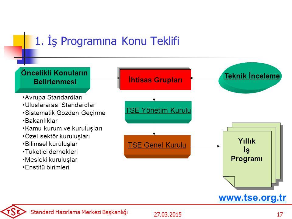 1. İş Programına Konu Teklifi