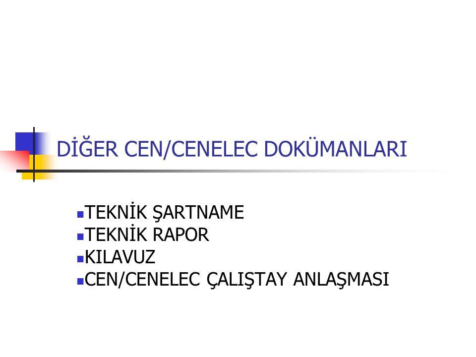 DİĞER CEN/CENELEC DOKÜMANLARI