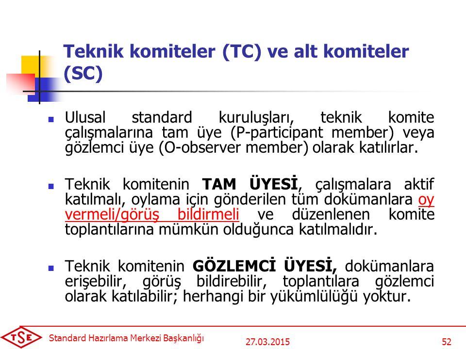 Teknik komiteler (TC) ve alt komiteler (SC)