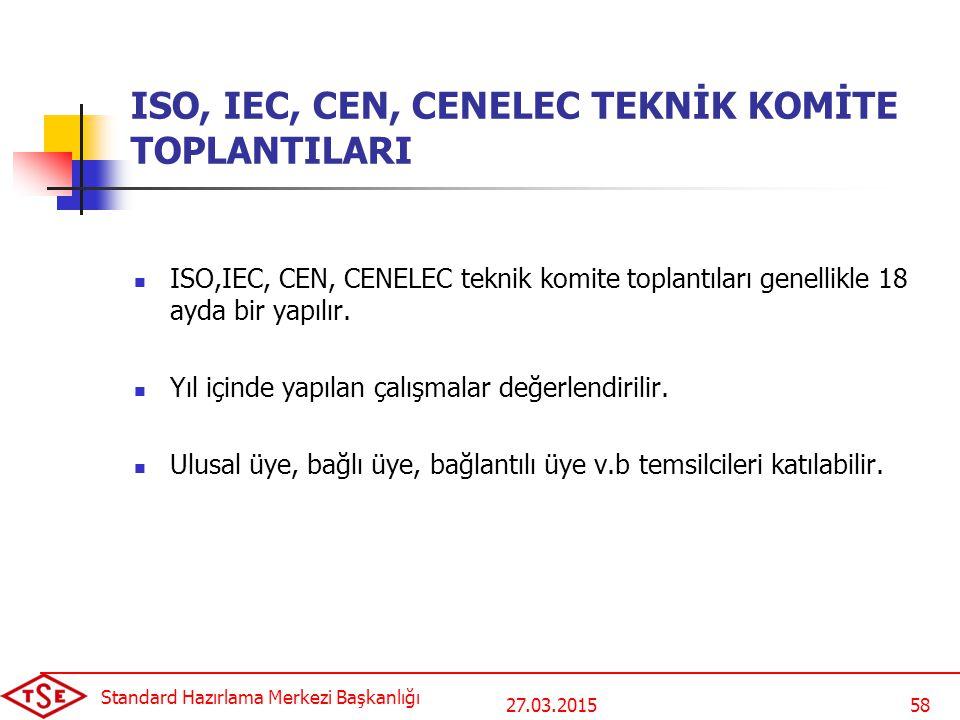 ISO, IEC, CEN, CENELEC TEKNİK KOMİTE TOPLANTILARI