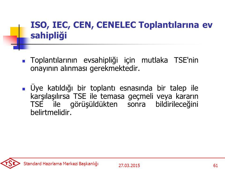 ISO, IEC, CEN, CENELEC Toplantılarına ev sahipliği