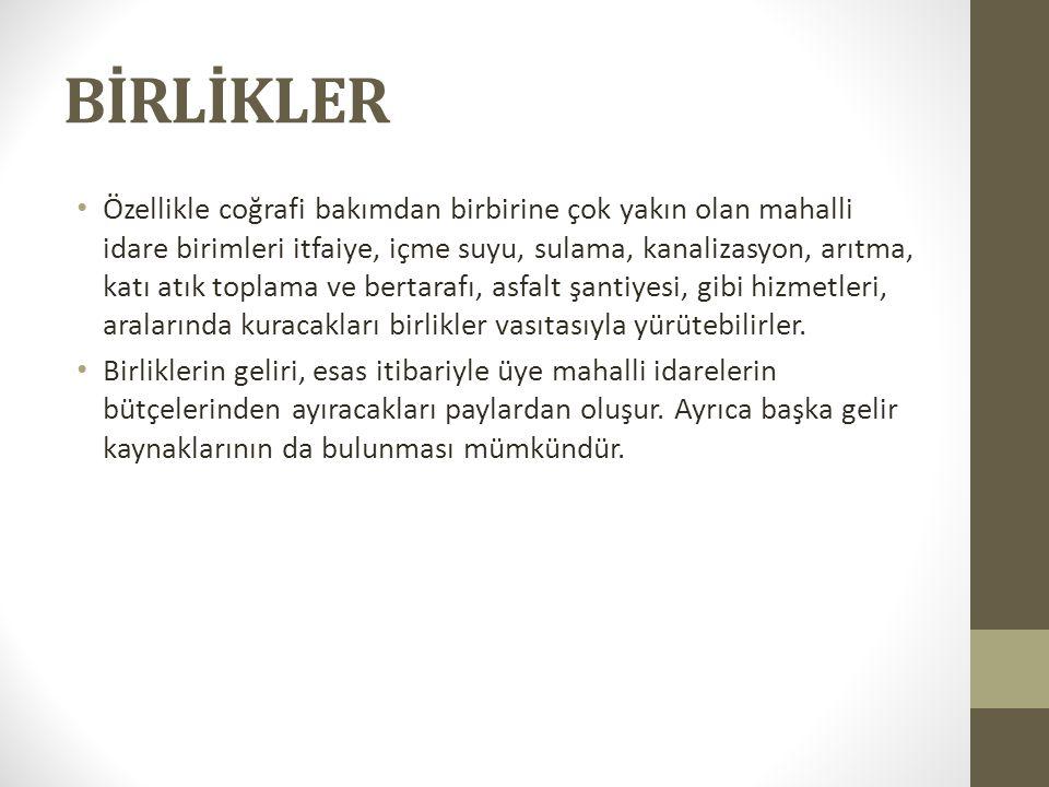 BİRLİKLER