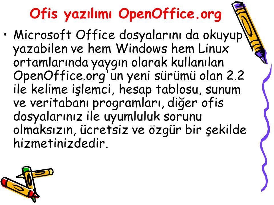 Ofis yazılımı OpenOffice.org