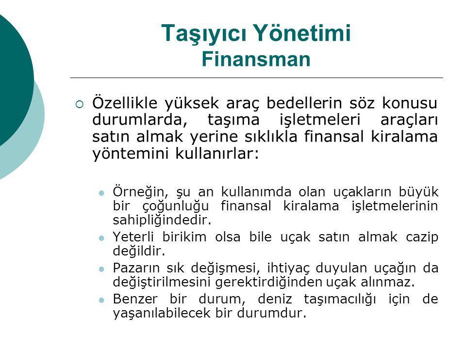 Taşıyıcı Yönetimi Finansman