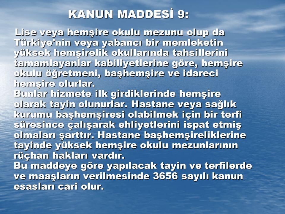 KANUN MADDESİ 9: