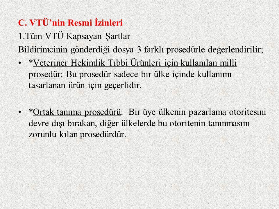 C. VTÜ'nin Resmi İzinleri
