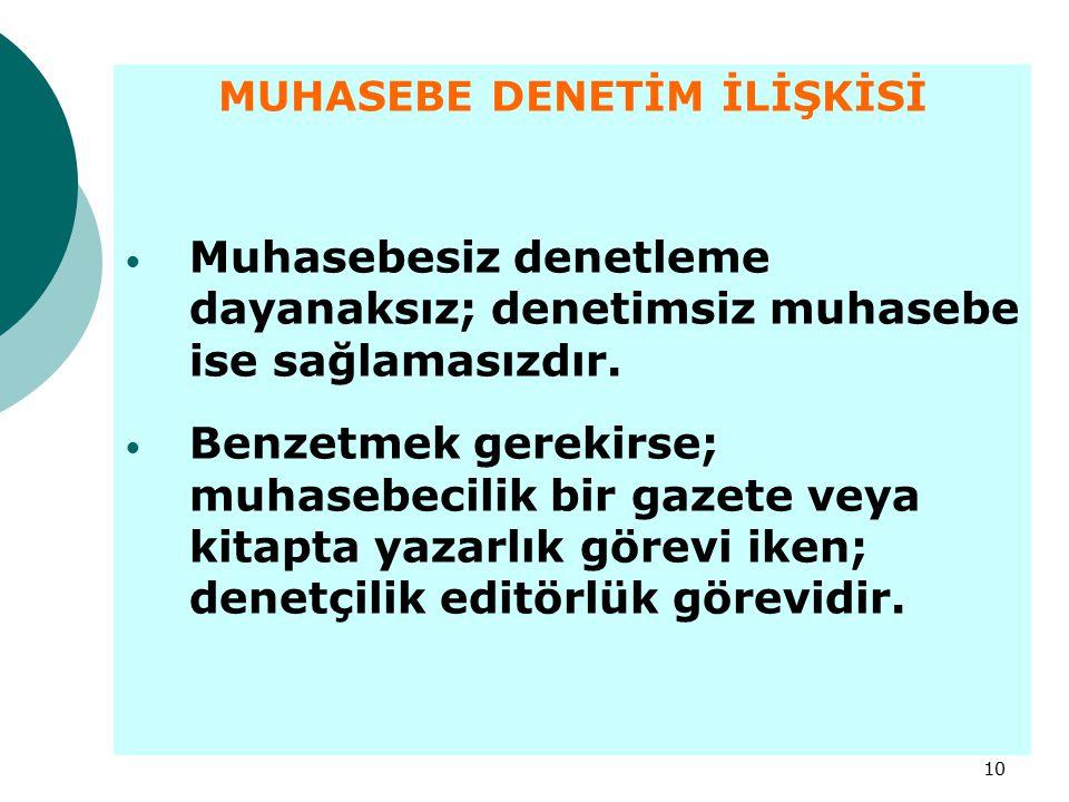 MUHASEBE DENETİM İLİŞKİSİ