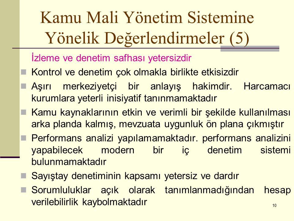 Kamu Mali Yönetim Sistemine Yönelik Değerlendirmeler (5)