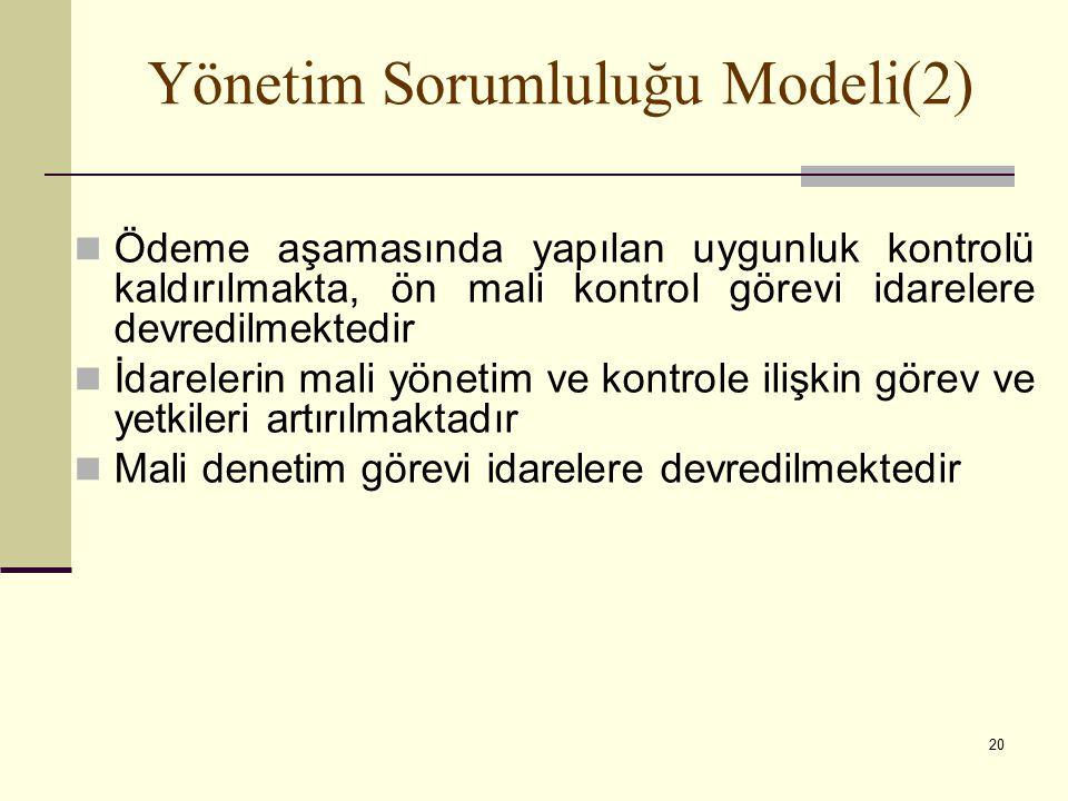 Yönetim Sorumluluğu Modeli(2)