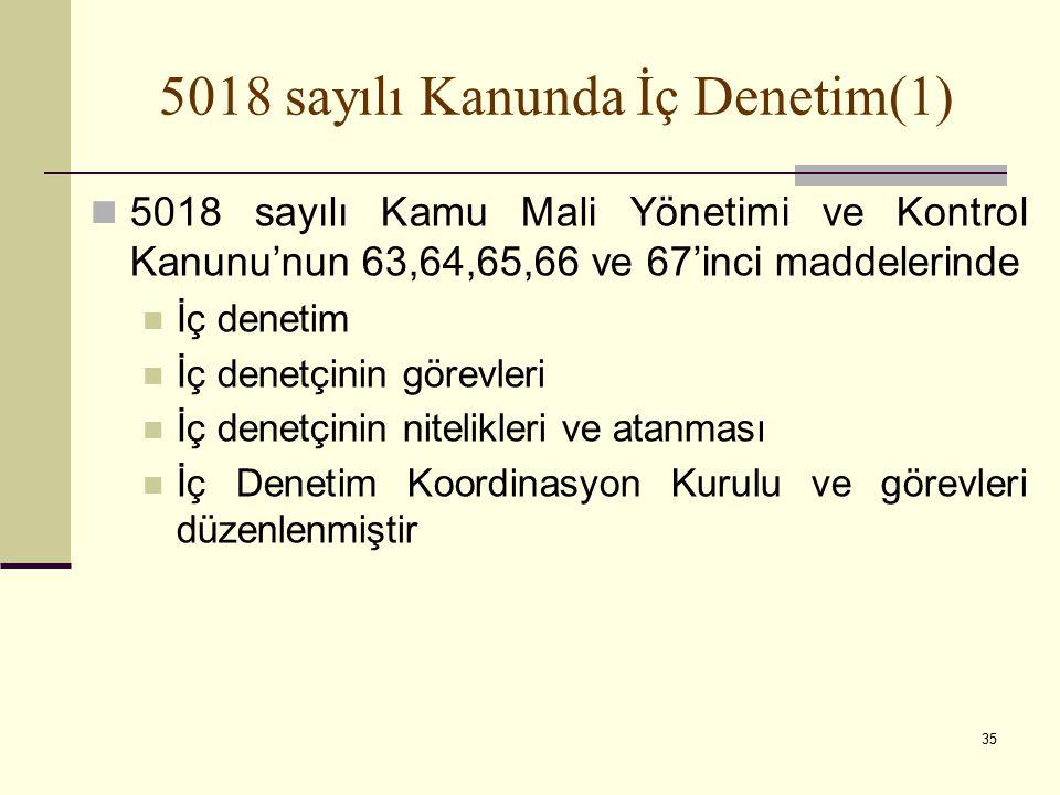 5018 sayılı Kanunda İç Denetim(1)