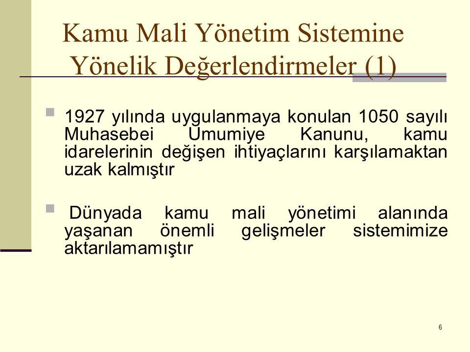Kamu Mali Yönetim Sistemine Yönelik Değerlendirmeler (1)
