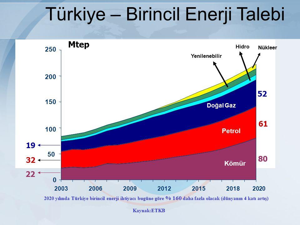 Türkiye – Birincil Enerji Talebi