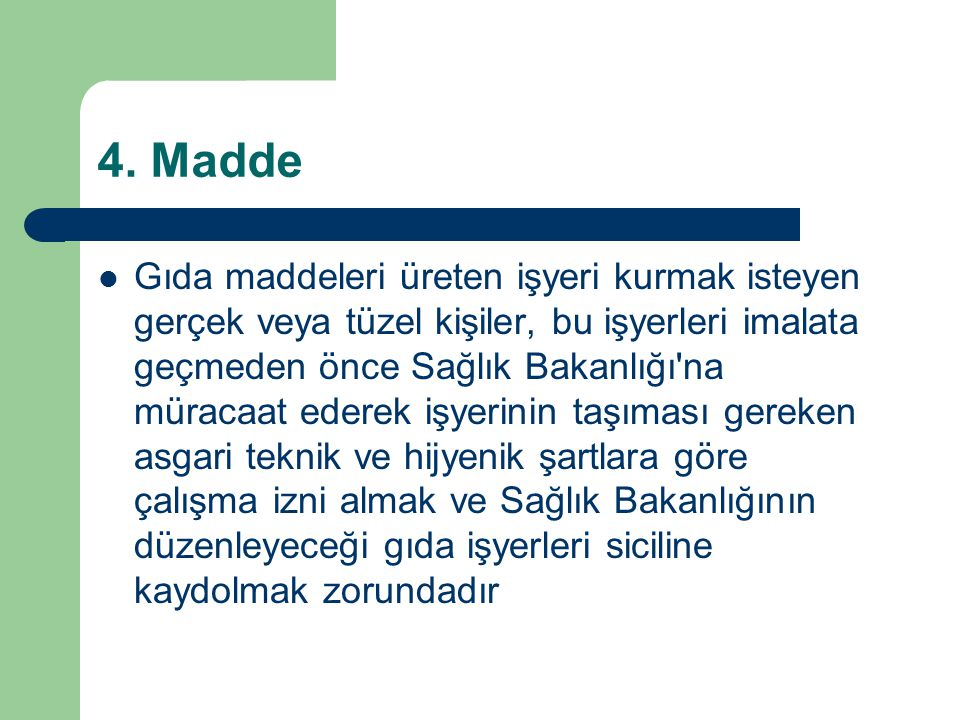 4. Madde