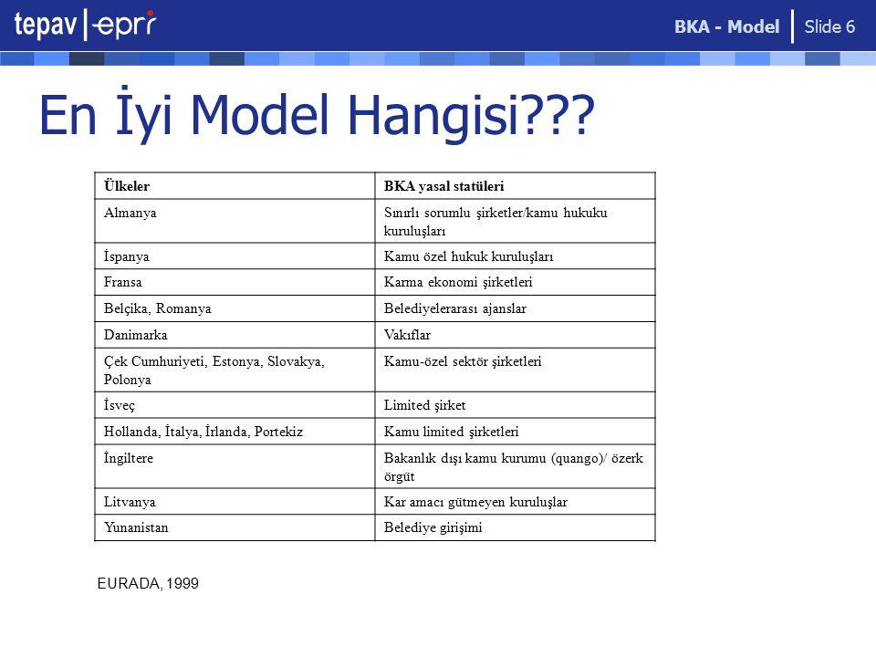 En İyi Model Hangisi BKA - Model Ülkeler BKA yasal statüleri