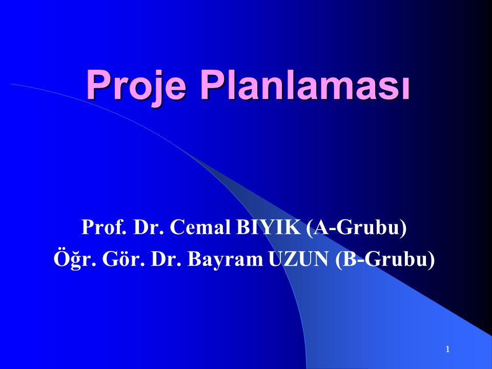 Prof. Dr. Cemal BIYIK (A-Grubu) Öğr. Gör. Dr. Bayram UZUN (B-Grubu)