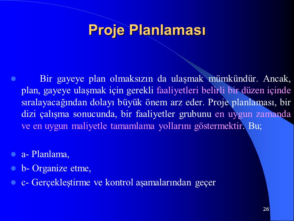 Proje Planlaması