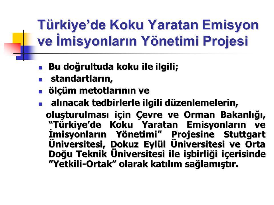 Türkiye'de Koku Yaratan Emisyon ve İmisyonların Yönetimi Projesi