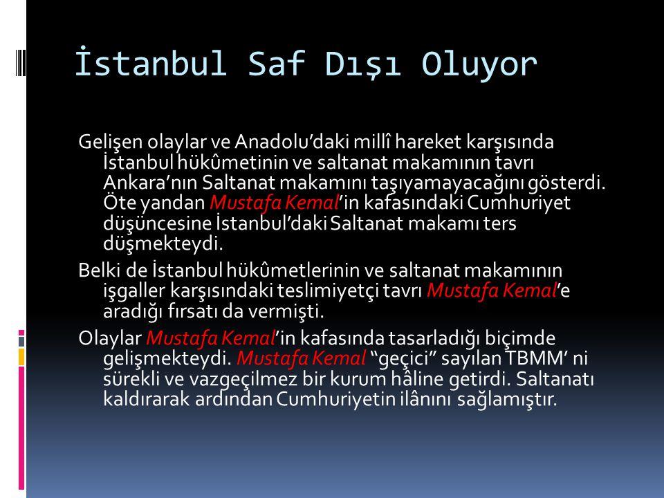 İstanbul Saf Dışı Oluyor
