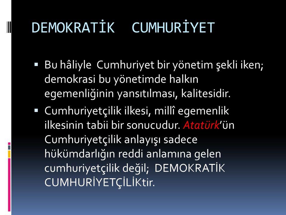 DEMOKRATİK CUMHURİYET