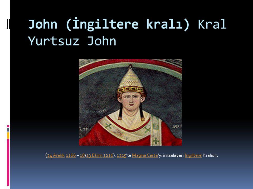 John (İngiltere kralı) Kral Yurtsuz John