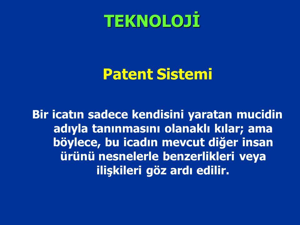 TEKNOLOJİ Patent Sistemi