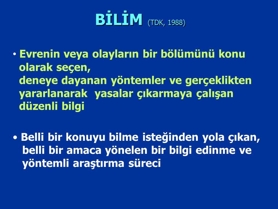 BİLİM (TDK, 1988)