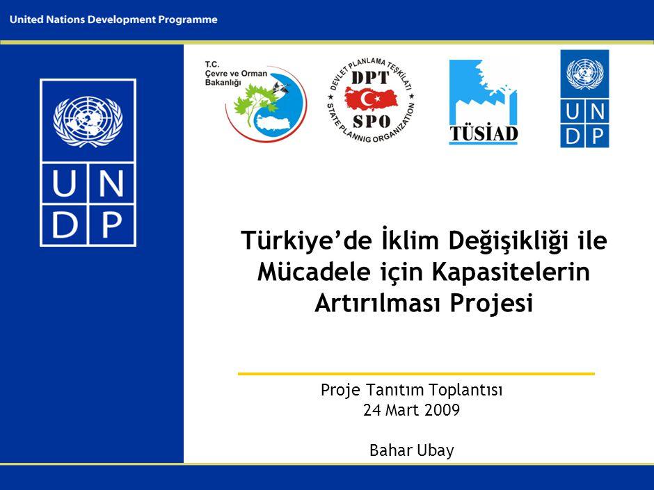 I. UNDP ve İklim Değişikliği Çalışmaları Hakkında. II. Projeye Neden İhtiyaç Duyuldu III. Proje Künyesi.