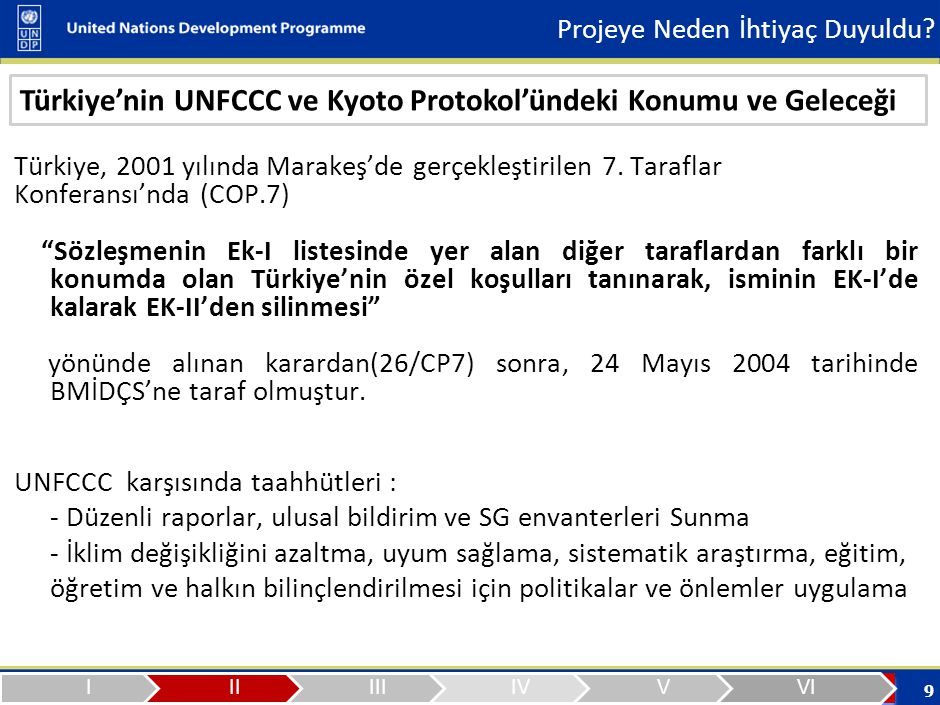 Türkiye'nin UNFCCC ve Kyoto Protokol'ündeki Konumu ve Geleceği