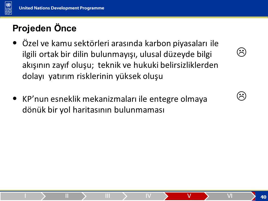 Projeden Sonra Türkiye'nin UNFCCC/KP kapsamında istenen durumunun açıklığa kavuşturulması sağlanmış olması.