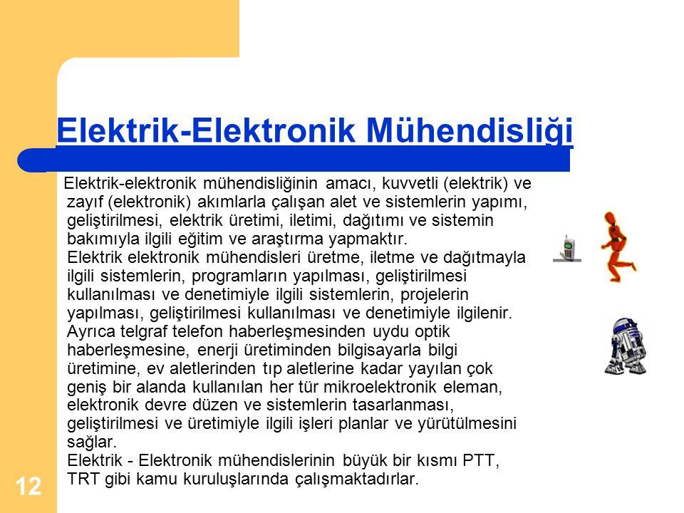 Elektrik-Elektronik Mühendisliği