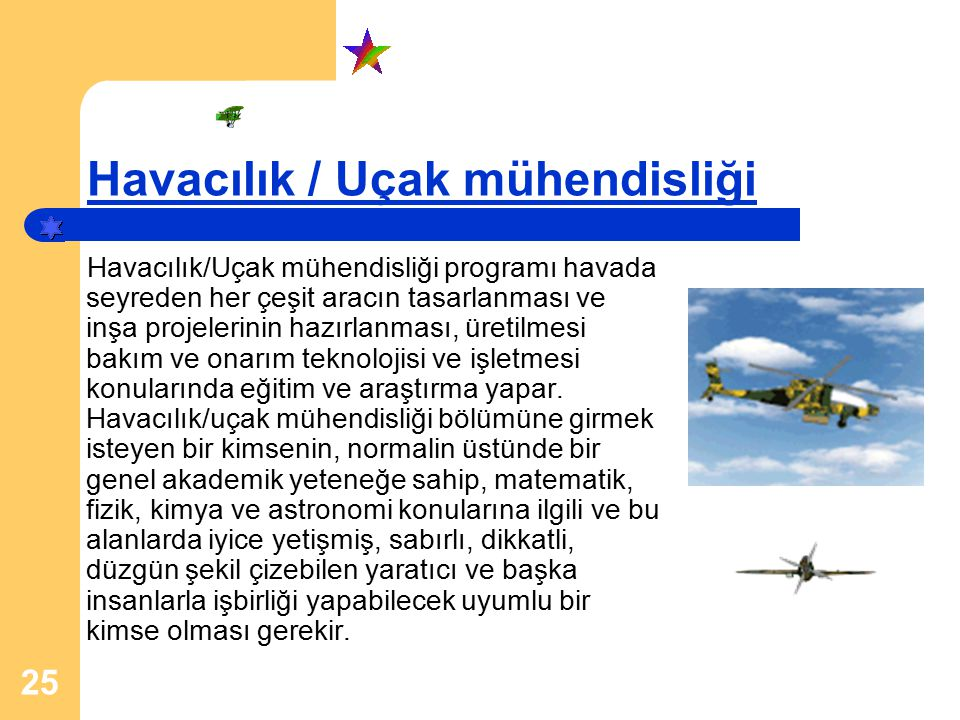 Havacılık / Uçak mühendisliği