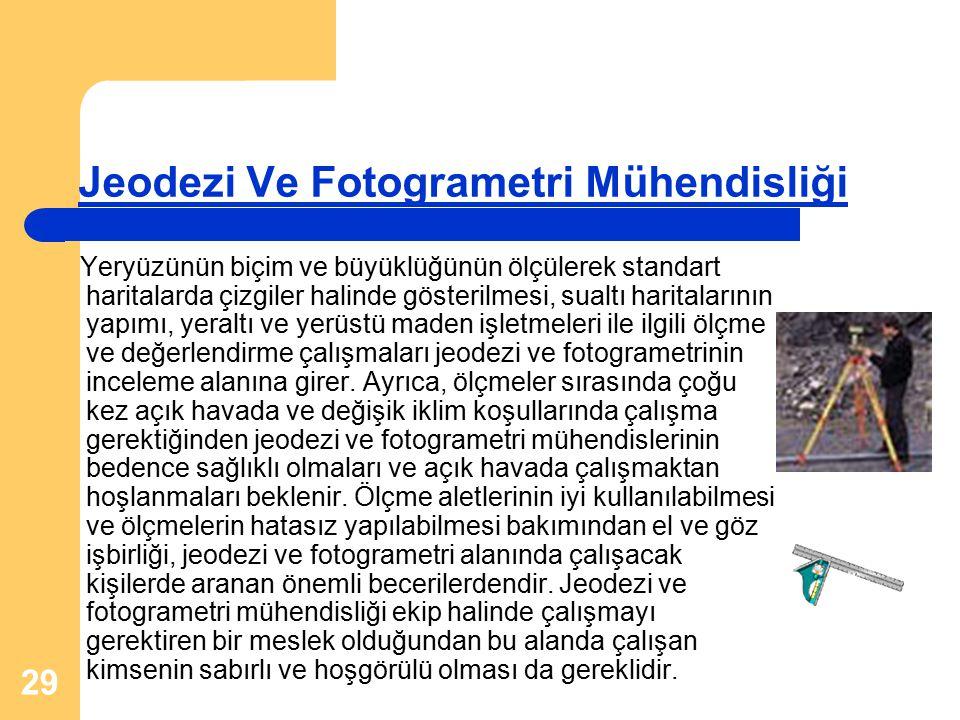 Jeodezi Ve Fotogrametri Mühendisliği