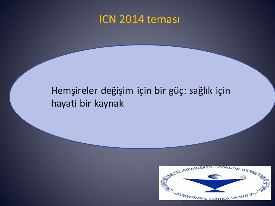 ICN 2014 teması Hemşireler değişim için bir güç: sağlık için hayati bir kaynak