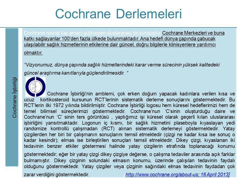 Cochrane Derlemeleri Cochrane İşbirliği
