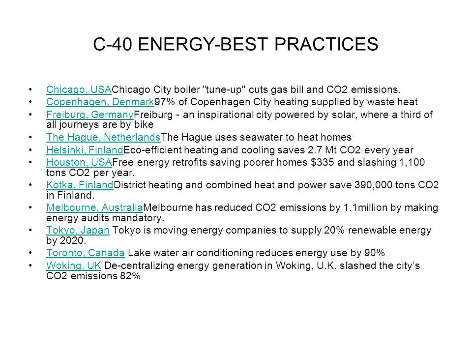 C-40 ENERGY-BEST PRACTICES
