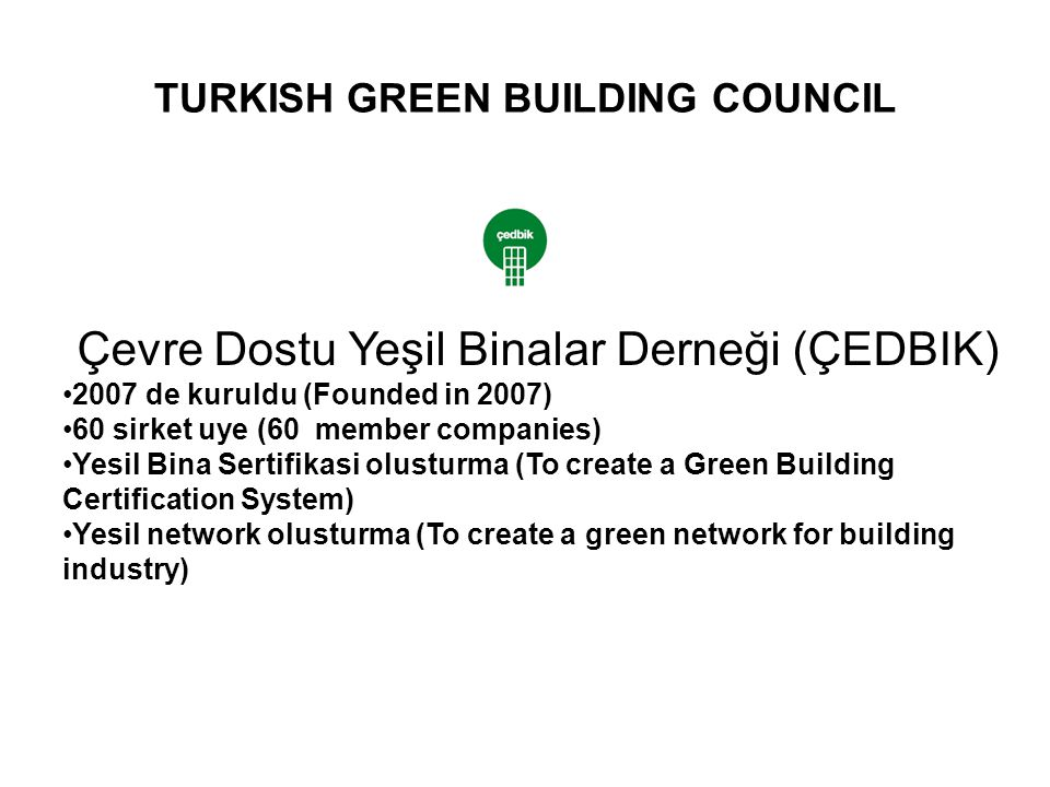 TURKISH GREEN BUILDING COUNCIL