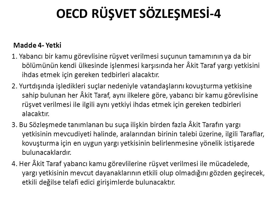 OECD RÜŞVET SÖZLEŞMESİ-4