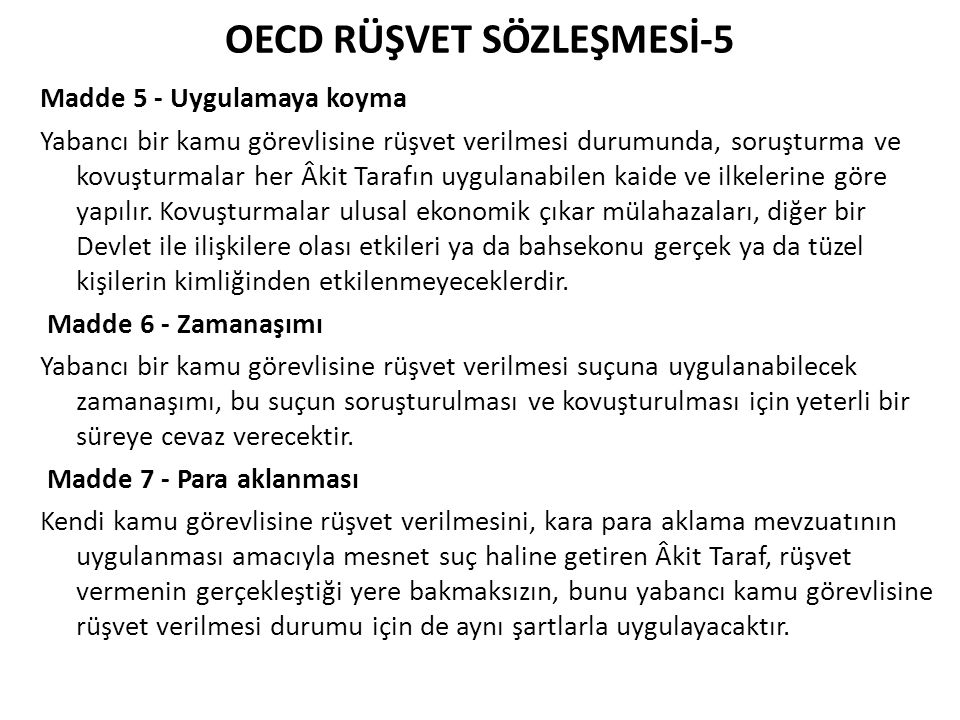 OECD RÜŞVET SÖZLEŞMESİ-5