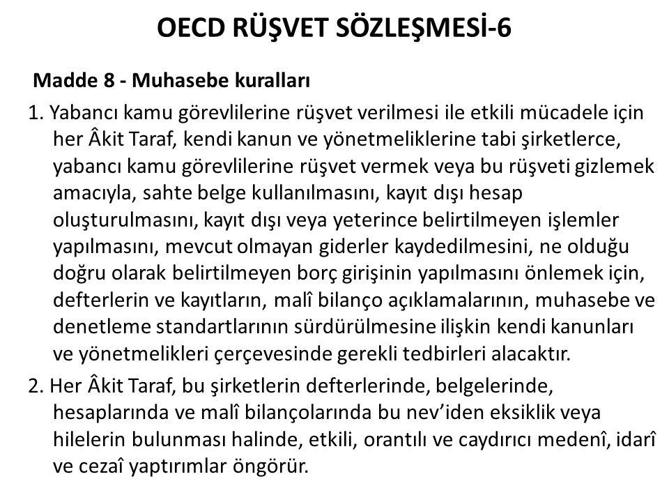 OECD RÜŞVET SÖZLEŞMESİ-6